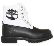 Boots schwarz/weiß