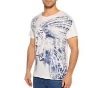 T-Shirt offwhite/blau