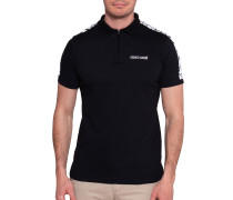 Kurzarm Poloshirt Regular Fit schwarz