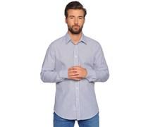 Hemd Regular Fit, weiß/navy, Herren