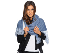 XXL Schal, blau/weiß, Damen