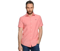 Kurzarmhemd Regular Fit, rosa, Herren