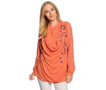 Blusenshirt, orange, Damen