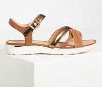 Sandalen braun/gold