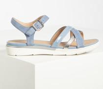 Sandalen blau/silber