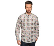 Hemd Regular Fit, grau/multi, Herren