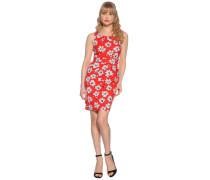 Kleid, rot/weiß, Damen