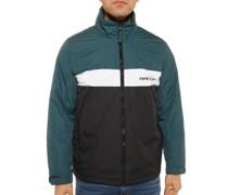 Jacke grün/weiß/schwarz