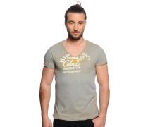 T-Shirt, grau meliert, Herren