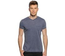 T-Shirt, navy meliert, Herren