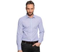 Hemd Slim Fit, blau/weiß kariert, Herren