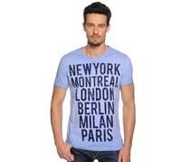 T-Shirt, hellblau, Herren
