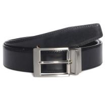 Wendegürtel aus Leder, schwarz/braun, Herren