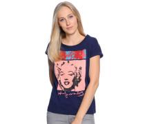 T-Shirt, navy, Damen