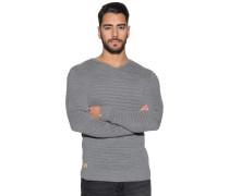 Pullover mit V-Ausschnitt, Grau, Herren