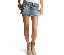 Minirock, denimblue, Damen