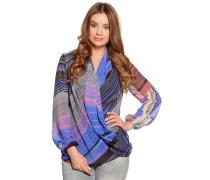 Blusenshirt, violett/multi, Damen