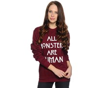 Sweatshirt, bordeaux, Damen