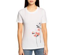 Kurzarm T-Shirt weiss