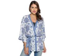 Kimono, blau/weiß, Damen