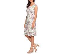 Kleid offwhite/pink/grün