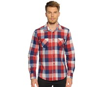 Hemd Regular Fit, rot/blau kariert, Herren