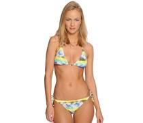 PW Batik Triangle Bikini, yellow aop, Damen