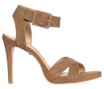 Sandaletten, taupe, Damen