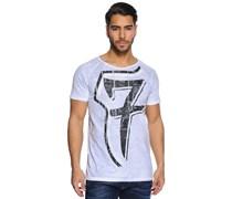 T-Shirt, navy/weiß, Herren
