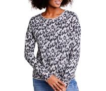 Sweatshirt offwhite/schwarz