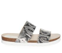 Sandalen, grau/weiß, Damen