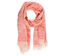 Schal, offwhite/pink, Damen