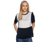Blusenshirt, blau/grau/ecru, Damen