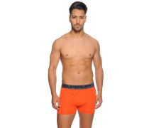 Boxershorts im 2er Set, orange/schwarz, Herren