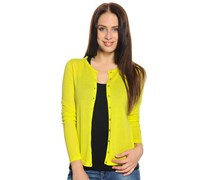 Strickjacke, lemon, Damen
