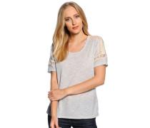 T-Shirt, grau/meliert, Damen