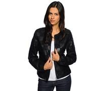 Uvelle Jacke in Lederoptik, black, Damen