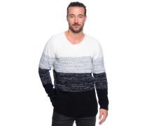 Pullover, offwhite/schwarz, Herren
