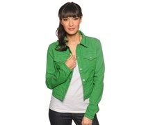 Jeansjacke, grün, Damen