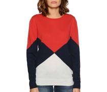 Pullover rot/navy/weiß