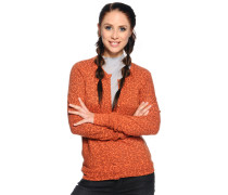Strickjacke, Orange, Damen