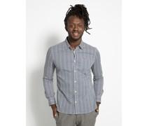 Langarm Hemd Regular Fit blau/weiß