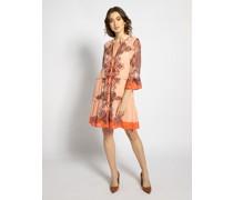 Kleid neonkoralle