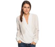 Blusenshirt aus Seide, offwhite, Damen