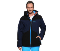 Ski-/Snowboardjacke, schwarz/blau, Herren