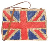 Tasche, beige/rot/blau, Damen