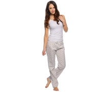 Pyjama, weiß/offwhite, Damen