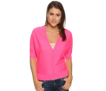 Strickjacke, neonpink, Damen