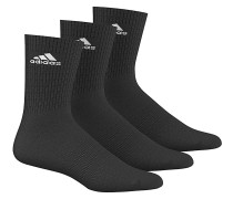 3 Performance CrewSocken Schwarz