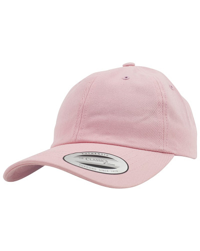 Low Profile Cotton Twill Snapback Cap - Pink